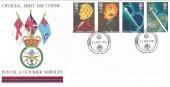 1991 Scientific Achievements, Tri-Forces FDC, with British Forces Postal Service 1000 H/S