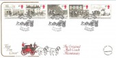 1984 Royal Mail Cotswold FDC, The Bath Mail Coach Commemorative Run Bath H/S