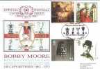 1999 Entertainers' Tale, Bobby Moore West Ham United & England, Dawn Official FDC