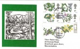 1967 Wild Flowers FDC, Phosphor Set Philatelic Bureau H/S, Tibor Reich FDC. Scarce