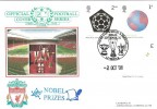 2001 Nobel Prizes, Liverpool 3 Cup wins in a Season, Dawn Football FDC