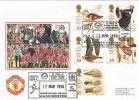 1996 Wildlife & Wetland Trust,  Manchester United, Dawn Football FDC