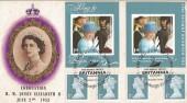2012 Queen Elizabeth II Diamond Jubilee Booklet, on Original 1953 Coronation FDC