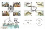1981 Sea Fishing Doubled with 1983 River Fish, Peter Scott FDC