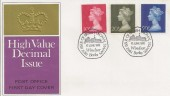 1970 10p, 20p, 50p, First Decimal High Values Definitives PO FDC, Windsor H/S