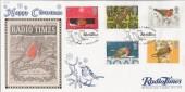 1995 Christmas Robins, Benham RT06 Official Radio Times FDC, Happy Christmas Radio Times London W12 OTT H/S