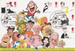 1998 Comedians, GBFDC GB13 Cartoons Official FDC