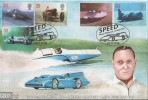 1998 Speed, GBCovers GB17, Sir Malcolm Campbell & Donald Campbell Official FDC, Speed House Barbican London EC2 H/S