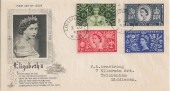 1953 Coronation, Artcraft FDC, Leicester Square WC2 cds