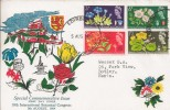 1964 Botanical Congress, Illustrated Wessex FDC, Ordinary Set, Edinburgh FDI
