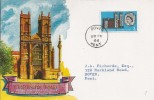 1966 Westminster Abbey, Phosphor set, Connoisseur FDC