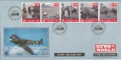 1994 D Day, Official Covercraft FDC, News of the World London E1 H/S