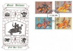 1974 Great Britons Historic Relics FDC, London SE1 FDI
