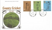 1973 Cricket Centenary, Post Office FDC, Woodchurch cds