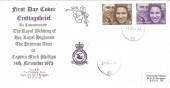 1973 Royal Wedding, RAF Bruggen Philatelic Club Special FDC