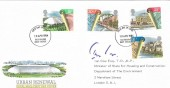 1984 Urban Renewal  Royal Mail FDC. Signed by Ian Gow MP