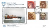 1993 Roman Britain, New Relief Lifeboat Fleetwood, Official Pilgrim FDC