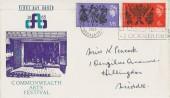 1965 Arts FDC with Rare Commonwealth Arts Festival Slogan