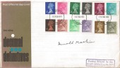 1971 Decimal Machins ½p to 9p, 12 Values, GPO FDC. Signed by Arnold Machin