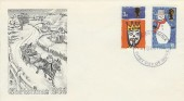 1966 Christmas, Stuart FDC, with Forged Norwich FDI