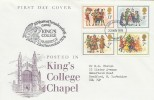 1978 Christmas, King's College Chapel, Cambridge FDC, 50 Years of Broadcasting Carols, King's College Cambridge and Cambridge FDI