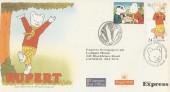 1993 Greetings, Rupert Bear Sunday Express Official FDC