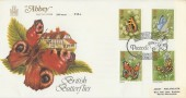 1981 Butterflies, Abbey FDC, British Butterfly Conservation Society Sherborne Dorset H/S