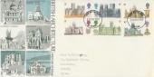 1969 British Cathedrals, Trident FDC, York FDI. York Minster 5d Stamp
