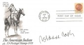 1978 The American Indian 13c Postage Stamp, Artcraft US FDC, Kansas City  Postmark. Signed by Rosanne Cash