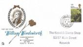 1970 Literary Anniversaries, William Wordsworth 1/6d Stamp, Sovereign FDC Ambleside Westmorland cds