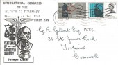 1965 Joseph Lister Antiseptic Surgery FDC, Posted at the International Congress of the History of Pharmacy London, on the First Day