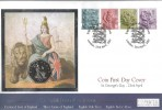 2001 England Country Pictorials, Westminster Official Coin FDC, English Pictorial Definitives London H/S