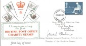 1975 Charity, Stuart FDC, Signed by Group Captain Leonard Cheshire.