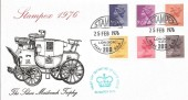 1976 9p, 9½p, 10p, 10½p, 11p, 20p Definitive Issue, Official Stampex 1976 FDC, Stampex H/S