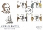 1982 Charles Darwin, Historic Relics FDC, First Day of Issue Shrewsbury H/S