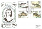 1983 British River Fish, Historic Relics FDC, First Day of Issue Peterborough H/S