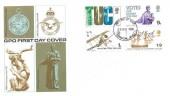 1968 British Anniversaries, GPO FDC, London WC FDI