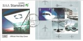 2002 Airliners Miniature Sheet, Havering Official FDC, Stansted London's Third Airport H/S
