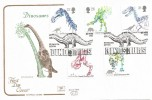 1991 Dinosaurs, Cotswold FDC, 150th Anniversary of the First Use of the Word Dinosaurs Plymouth H/S