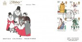 1976 British Cultural Traditions, Abbey FDC, First Day of Issue Cardigan H/S