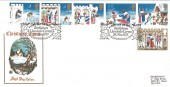 1973 Christmas Wessex FDC, First Day of Issue Bethlehem Llandeilo H/S, 3d Missing Salmon Pink