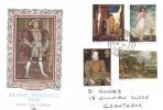 1968 British Paintings, Philart FDC, Grantham Lincs. cds