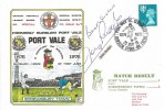 1976 Dawn Football Cover, Port Vale v Shrewsbury Town, Port Vale Centenary Burslem Stoke on Trent H/S. Signed by John Rudge.