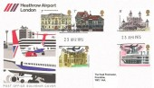 1975 Architecture, Heathrow Airport London FDC, Heathrow Airport London Hounslow Middx. H/S