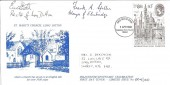 1980 London, 1980 Stamp Exhibition, St.Mary's Church Long Ditton. Kingston  Upon Thames FDI. Signed.