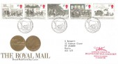 1984 The Royal Mail, Royal Mail FDC, Philatelic Bureau H/S with Carried on Mail Coach Cachet