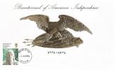 1976 American Bicentenary, Milne Early & Co. Scotland Gilded Card, Glasgow FDI