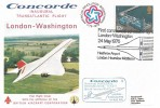1976 Concorde, Inaugural Transatlantic Flight London - Washington Cover, First Commercial Scheduled Flight Heathrow Airport Houslow H/S