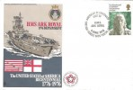 1976 HMS Ark Royal Deployment US Bicentenary Cover, American Bicentenary Visit by Ark Royal BF 1475 PS H/S