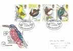 1980 British Birds, Philcovers FDC, RSPB Pioneers in Bird Protection Sandy H/S
